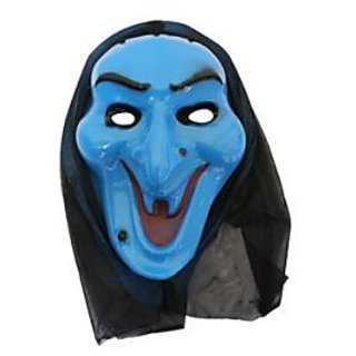 Plastic Colorful Mask- Scream Mask - Blue