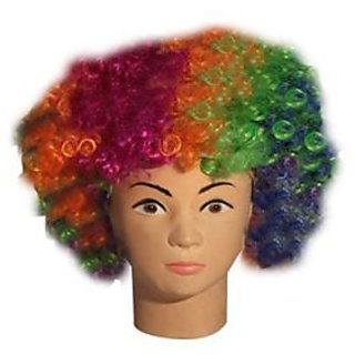 Multicolor Curly Wig