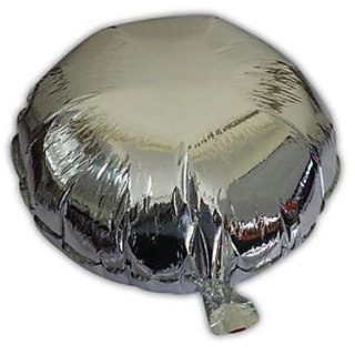 Round Shaped Foil Balloon- Silver