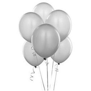 Grey Metallic Balloons - A Pack Of 25