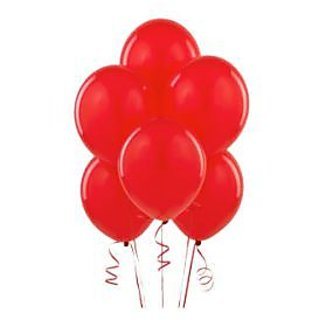 Red Metallic Balloons - A Pack Of 25