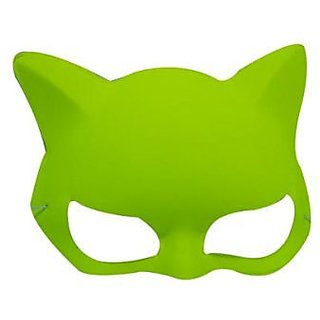 Plain Neon Cat Mask Yellow