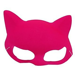Plain Neon Cat Mask Pink