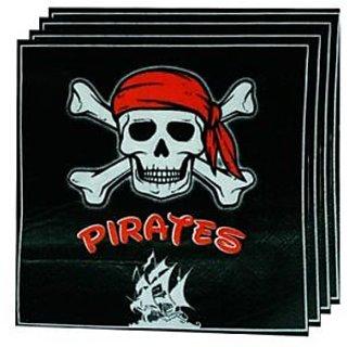 Pirate Napkin - Black