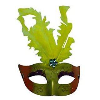 Showgirl Eye Mask - Yellow