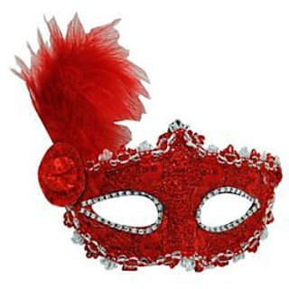 Eye Mask With Small Hat- Red