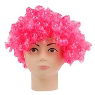 Light Pink Curly Wig
