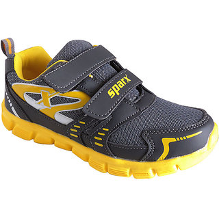 Sparx-68 Grey Yellow Sports Shoes