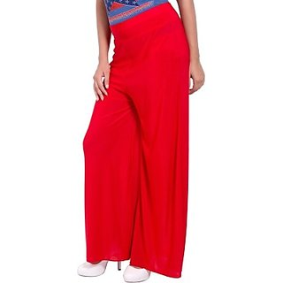 Red Plazzo Pant By The Taran Fashion