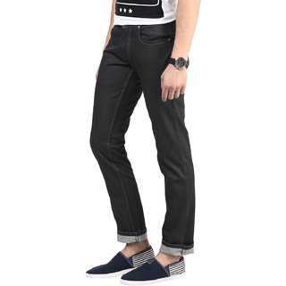 3Concept Grey Slim Fit Jeans For Men-abc155c