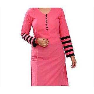 Appealing Fuchsia Pink Kurti And Tunic