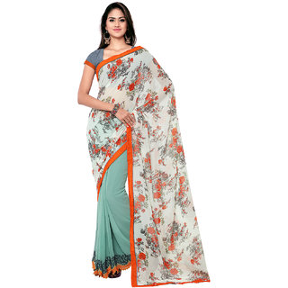 Sareemall Multi Color Georgette Saree with Unstitched Blouse