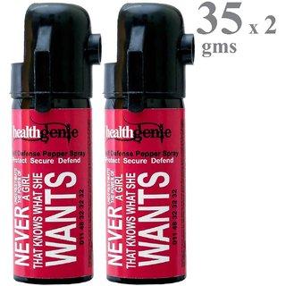 Healthgenie Pepper Spray  upto 10 feet range  35 gms of Dispensable Pepper Spray (Pack of 2)
