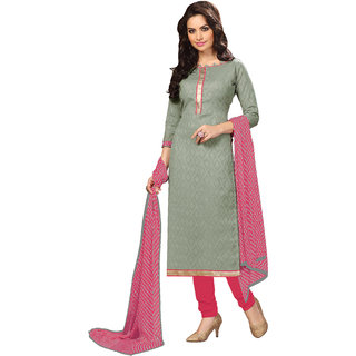 Lovely Look Grey Printed Un-Stitched Straight suit LLKKFBRCKET1007