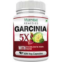 Morpheme Garcinia 5X (Garcinia, Coffee, Green Tea, Forskolin, Grape Seed) 60 Veg Caps
