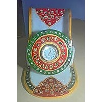Decorative Marble Mobile / Visiting Card  Holder With Watch By H R Creations