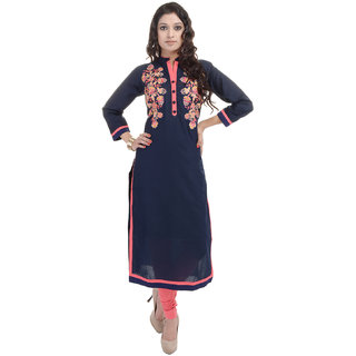 Beautiful Cotton Embroiderey Blue Color Kurti From the house of SANA FAB