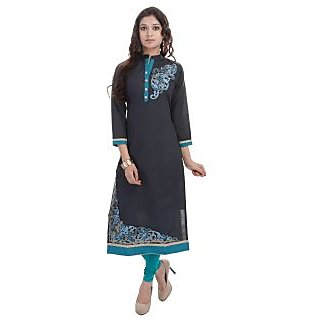 Beautiful Cotton Embroiderey Black Color Kurti From the house of SANA FAB