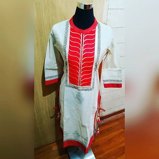 chanderi cotton kurti for women