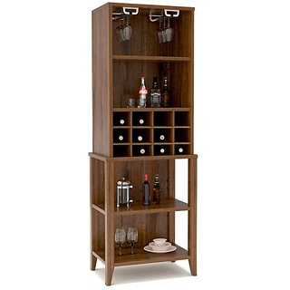 Tezerac -Morelos Bar Unit Made By Solid Sheesham Wood In Natural Finish