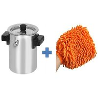 Buy 2Ltr Stainless Steel Milk Boiler Cooker & Get Cleaning Glove Cloth Free