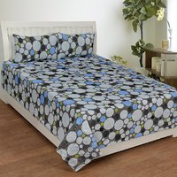 Trendz Cotton Double Bed Sheet With 2 Pillow Cover Vi1850