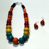 Versatile Rainbow Colored Bead Jewellery Set