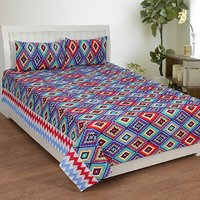 Trendz Cotton Double Bed Sheet With 2 Pillow Cover Vi1855