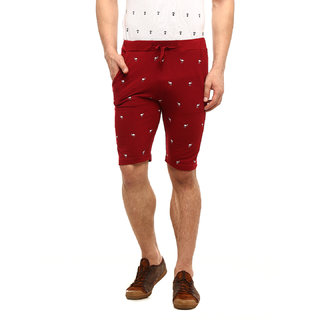 Gritstones Maroon Casual Short For Men GSSRT920DMRN