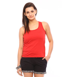 Vvoguish Red Solid Tank Top (VVTTRED)