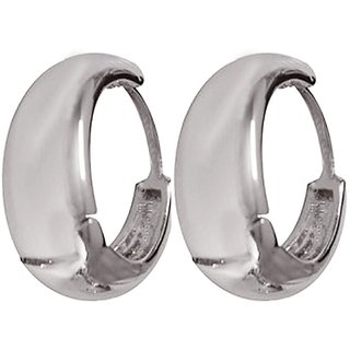 Men Style 316L Salman khan bali inspired Silver Stainless Steel Round Hoop Earring For Men And Boy