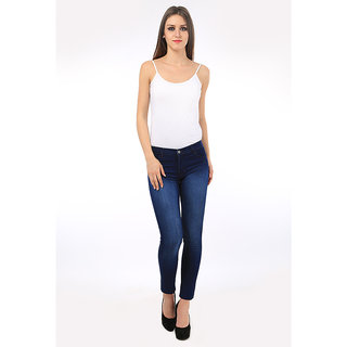 AVE Fashion Wear Women Slim Fit Cottan Lycra Blue Denim Jeans (AV-S51-1-GRL-JNS)