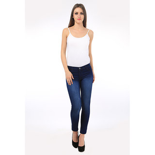 AVE Fashion Wear Women Slim Fit Cottan Lycra Blue Denim Jeans (AV-S51-2-GRL-JNS)