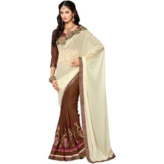 Manvaa Multicolor Cotton Checks Pure Georgette Party wear saree