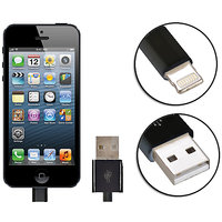 Gadget Hero's Apple Generic IPhone 5, IPad 4 & Mini Lightning Cable USB Data Sync & Charging Black