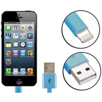 Gadget Hero's Apple Generic IPhone 5, IPad 4 & Mini Lightning Cable USB Data Sync & Charging Blue