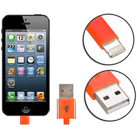 Gadget Hero's Apple Generic IPhone 5, IPad 4 & Mini Lightning Cable USB Data Sync & Charging Orange