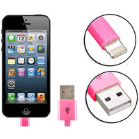 Gadget Hero's Apple Generic IPhone 5, IPad 4 & Mini Lightning Cable USB Data Sync & Charging Pink