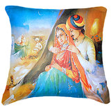 Set Of Three Banjara Painting Cushion Cover Throw Pillow