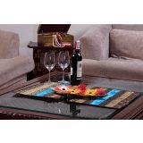 Jodhaa Turquoise Blue Table Mats Set