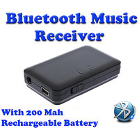 Gadget Hero's Bluetooth 3.5mm Audio Music Receiver Adapter A2DP For Phone Tablet
