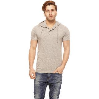 Gritstones Grey Melange Round Neck T-Shirt