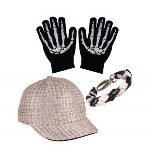 sushito  Go Green Cap  Wrist Band Combo Hand Gloves JSMFHCP0929-JSMFHHG0037