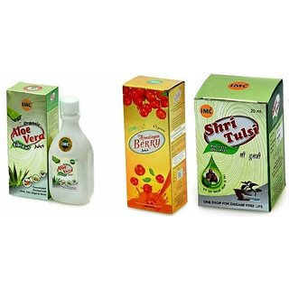 IMC HIMALYAN BERRY JUICE 500 ML + ALOE VERA JUICE 1 LTR + SHRI TULSI 20 ML
