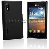 Ultra Thin Rubberized Matte Hard Case Back Cover For LG Optimus L5 Black
