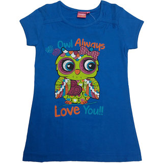 Tomato 24 Blue Casual T-Shirt For GirlS