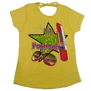 Tomato 20 Yellow Casual T-Shirt For GirlS