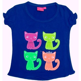 Tomato 28 Blue Casual T-Shirt For GirlS