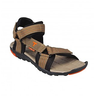 Tomcat Mens Black Orange Velcro Sandals