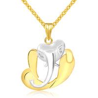 Jewelscart 3D Ganpati Cz God Pendant 24K Gold Plated Fashion Jewellery